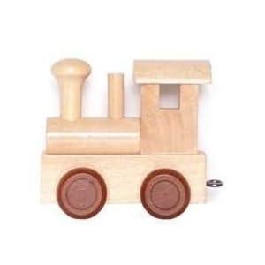 Buchstabenzug - Namenszug - Ein ideales Geschenk zur Geburt, Geburtstag, Einschulung uvm. (Lokomotive)