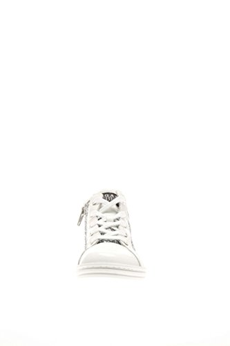 Hogan Rebel Junior Bambina Sneaker HXT1410I390BZO0906 Sneaker Alta Bianco/Argento