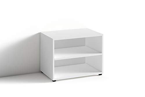 HOMEXPERTS,  TV Stand VANCOUVER, moderner, niedriger Beistelltisch 60 cm, Modernes Regal für Fernseher mit praktischer Ablagemöglichkeit /TV-Stand im Dekor weiß, B  60, H 39, T 45 cm
