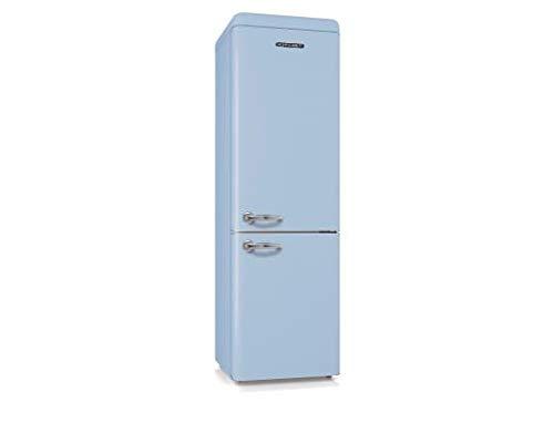 SCHNEIDER SCB250VBL Réfrigérateur combiné inversé Vintage 250 litres (178 litres + 72 litres) - coloris Bleu - A+