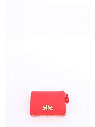 Pinko portafoglio piccolo da donna pelle di vitello colore rosso, con porta carte, porta banconote e porta monete. 1p21ky y5ff. biosaborse