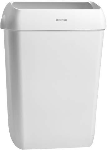 Katrin Abfalleimer, Deckel, 50 l, 420 x 280 x 575 mm, weiß