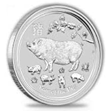 Lunar II cerdo Pig 2019 1 onza Plata Moneda moneda de plata en cápsulas