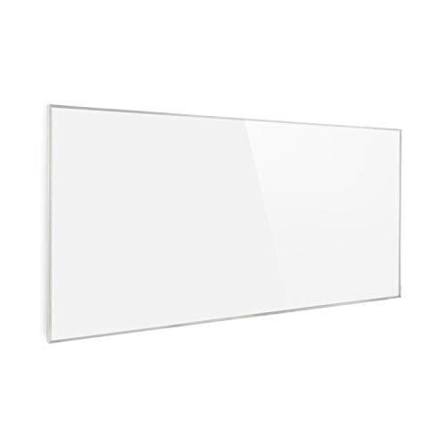 Klarstein Wonderwall Air 72 Infrarotheizung, 120 x 60 cm, 720 W, Carbon Crystal Infrared, IR ComfortHeat, ZeroNoise Infrared, OpenWindow Detection, ideal für Allergiker, weiß