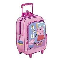 Girls Trolley Backpack Peppa Pig Pink 37 cm