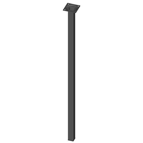 Element System 4 Stück Stahlrohrfüße eckig, Tischbeine schwarz, Möbelfüße inklusive...