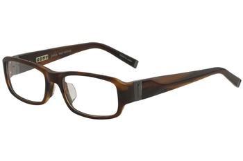 John Varvatos Designer Eyeglasses V341AF in Brown-Horn 53mm Demo Lens