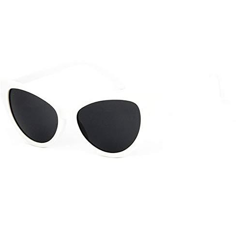 HUWAIYUNDONG Sonnenbrillen,Cat Eye Sunglasses Women Design Vintage Sun Glasses Men Outdoor Goggles Two Sizes (XL) White