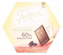 Preisvergleich Produktbild Feodora - Chocolade Täfelchen Edelbitter 60% - 30St / 225g