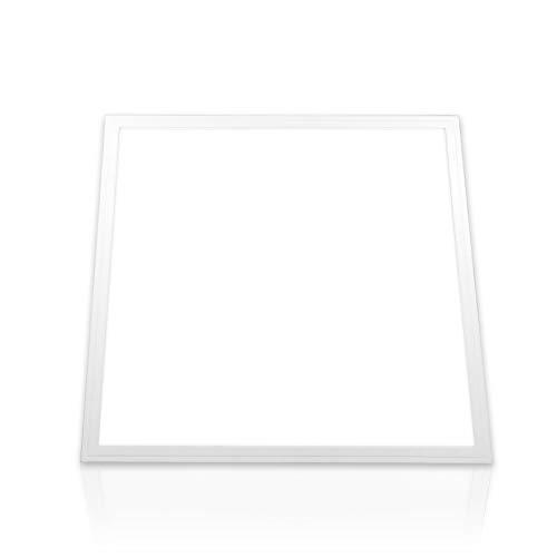 LED Panel 62x62 kaltweiß Rasterleuchte Deckenleuchte tageslichtweiß 6000K 40W PMMA Büro Deckenlampe Einbau Leuchte (ohne Montagematerial) PLe2.1