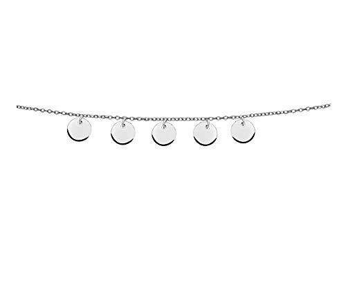 SOFIA MILANI Damen Halskette Choker Plättchen Silber 50220