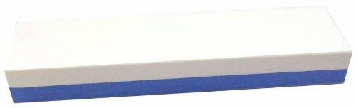 Abziehstein Korund blau/weiß von Zische - FEPA 220/400 (JIS 220/1000) - 6cm Breite + Gratis-Unterlage