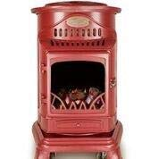 Calor Provence 3kw Portable Flueless Gas Stove Heater (Red)