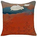 B Lyster shop 18 X 18 Red Fox & Sleepy Bunny Pillow Case Cushion Cover