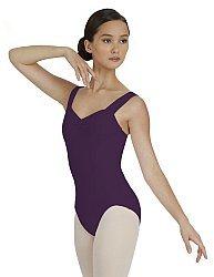 Capezio Balletttrikot mit breiten Trägern und Princesslinien für Damen (Aubergine, M (37-38)) (Damen Trikot Capezio)