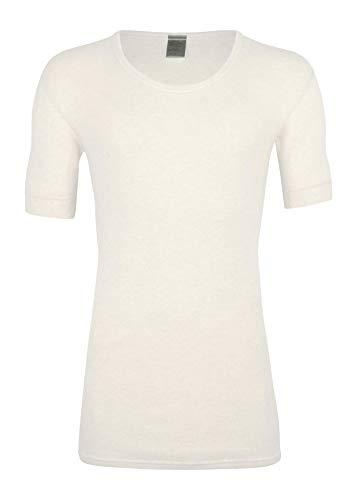 wobera Angora Herren-Unterhemd,½ Arm, wollweiß,Gr XXL