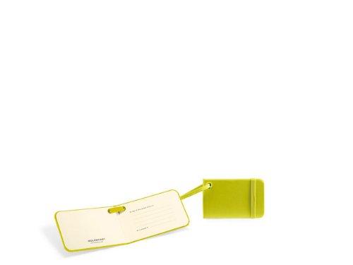 Moleskine Etichetta Valigia per Bagaglio da Stiva Copertina Rigida e Chiusura ad Elastico, 9 x 7 x 6 cm, Verde Limone
