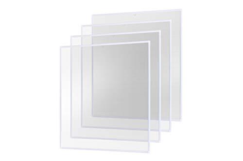 Insektenschutz Fliegengitter Fenster Alurahmen Basic weiß, 100 x 120 cm 4er Set
