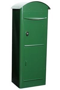 SafePost 80 Paketbriefkasten racinggreen grün Paketfach Standbriefkasten Briefkasten