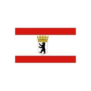 Yantec drapeau avec couronne berlin 150 x 250 cm