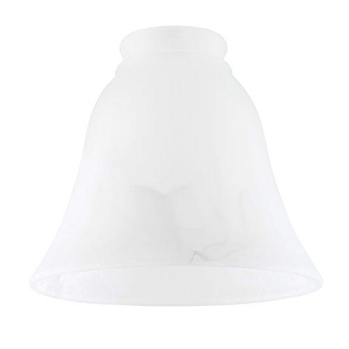 MiniSun - Set de 3 tulipas de repuesto para lámpara, de cristal satinado, efecto mármol y forma de campana