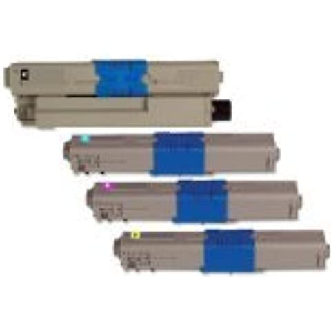 Bramacartuchos - 4 x Cartuchos reciclados Oki C300 C310n C310dn C310 C330dn C510dn C530dn MC351 MC352dn MC361 MC362dn MC561 MC562dn, UNO DE CADA COLOR,