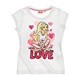 Barbie Mädchen T-Shirt 2016 Kollektion (92, Weiss)