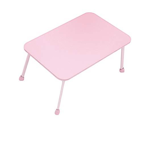 Klapptisch LITING Bett Student Dormitory Schreibtisch Flache kleine Tabelle tragbare Notebook Studie Tabelle (Farbe : Pink)