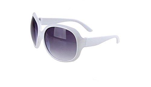 DaoRier Fashion Damen Champagner groß Rahmen dunkel getönt Objektiv Unisex Vintage Retro Sonnenbrille Anti UV-Eye Protect, Polykarbonat, violett, 147*55*123mm