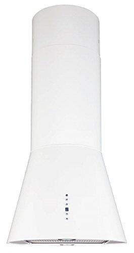 Inselhaube 50 cm Weiss 2-Fach Aktivkohlefilter Umluft oder Abluft höhenverstellbar bis 1,5m Dunstabzugshaube mit Timer 2xLED Beleuchtung Haube Küche Dunstabzugshaube Galaxy