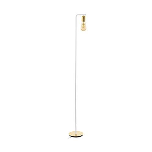 Stehleuchte ADRI 2 dimmbar in gold, weiss mit Fußtrittschalter