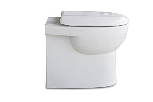 Stand WC/weiß/WC Sitz/Deckel/Soft Close/Quick Release/Tiefspüler/Spülrand geschlossen/Best Clean Nanobeschichtung incl. Spezialbefestigung