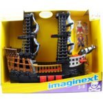 Fisher Price - Imaginext - Black & Red Pirate Ship - includes 2 Mini Figures - R8250