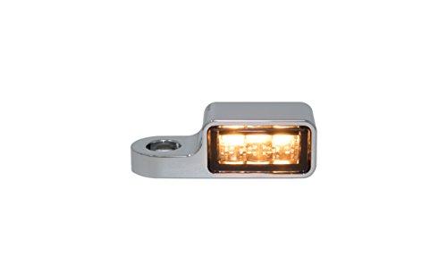 Blinkergehäuse Blinker Aluminium Universal für 23,5mm LED Einsätze Chrome, Blinkerhalter LED-Blinker Armaturen Lenkerarmaturen (LED Blinker) (Harley Led-blinker-einsätze)