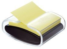 Haftnotiz-Spender Super Sticky Z-Notes, schwarz/transparent