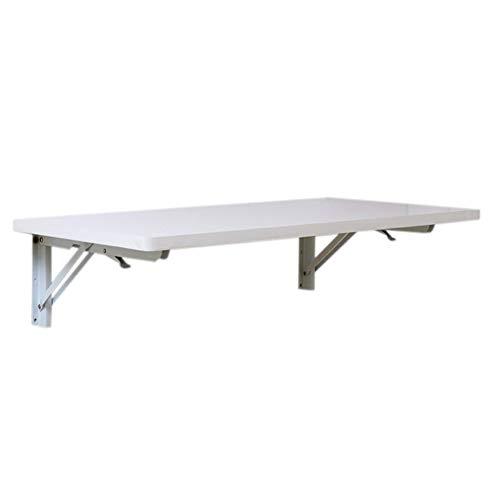 YueQiSong Rechteckiger Einfacher Wandtisch aus Holz Zum Aufhängen Eines Wandtisches mit Wand-Tischcomputertisch, Weiß, 60 cm * 40 cm - Kiefer Rechteckig Esstisch