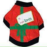 Vater Kostüm Weihnachten - GINBL Pet Christmas Day Kostüme für Kleine Hunde Shirt Puppy Weihnachten Vater Kostüm, M, Redblack