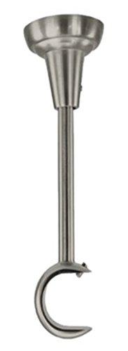 Ø 25mm Edelstahl Optik Zusammenstellung Gardinenstangen Erstellen Vorhangstange (1x 1-läufig Deckenhalter)