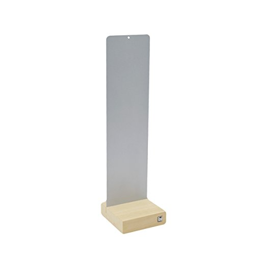 (Sgaravatti KalaMitica, silberne Metallplatte mit Holzfuß, 14 x 50 cm)