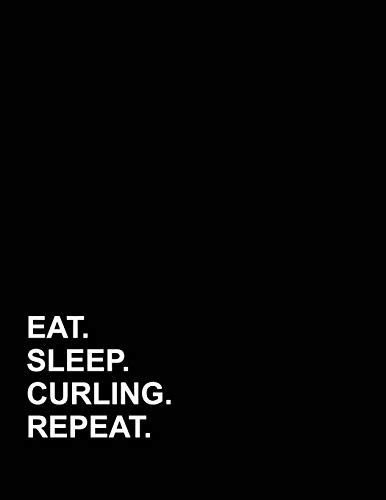 Eat Sleep Curling Repeat: Appointment Book 2 Columns