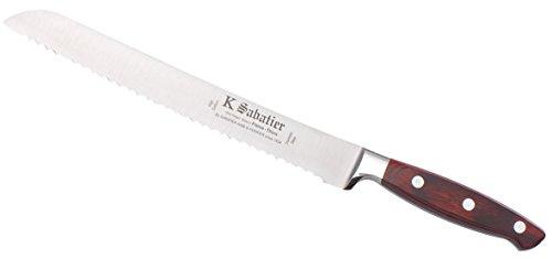 K Sabatier - Pain 23 Cm K Sabatier - Gamme Elegance - Acier Inoxydable - Manche Bois - 100% Forge - Entièrement Fabrique En France
