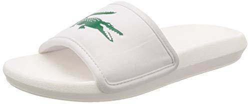 Lacoste Croco Slide 119 3 737cma0020082, Scarpe da Spiaggia e Piscina Uomo, Bianco (White), 44 1/2 EU