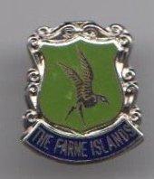 Farne Islands National Trust Northumberland Round Flag / Crest Pin Badge