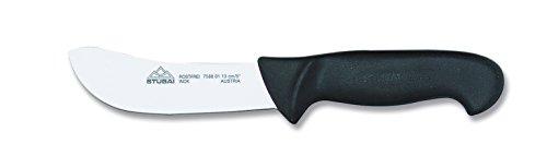 Stubai 758802 Couteau à Dépouiller en Polypropylène, Acier Inoxydable, Argent/Noir, 28 x 13 x 13 cm