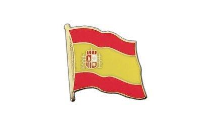 Spanien mit Wappen Flaggen Pin, spanische Fahne 2x2cm, MaxFlags®