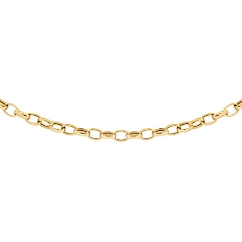Carissima Gold Unisex 9 ct Yellow Gold Hollow Round Belcher Chain Necklace HEKuFGIxYX