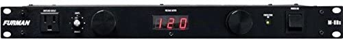 Furman M-8Dx Standard Level Power Conditioning, 15 Ampere, 9 Outlets with Wall Wart Spacing, Pullout Lights, Digital Voltmeter