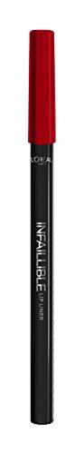 L'Oreal Paris Infaillible Lápiz para el Contour de los Labios Tono 105 Red Fiction - 1 lápiz de labios