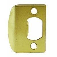 Kwikset Corporation 3437-01 3 STRK SQ CNR Full Lip Square Corner Strike in Polished Brass by Kwikset