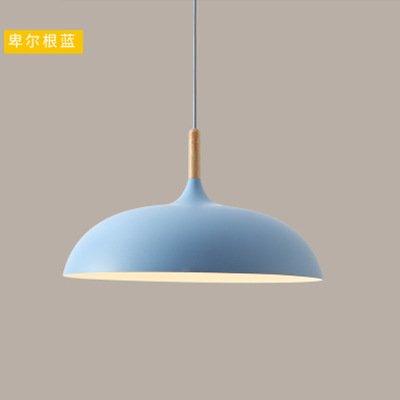 self-my éclairage de plafond de menuiserie de aluminium japonais personnalité créative en bois massif salle à manger salon chambre, bleu, 350* 230mm lampes de lustre